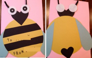 1bee 300x190 DIY Football Valentines and More