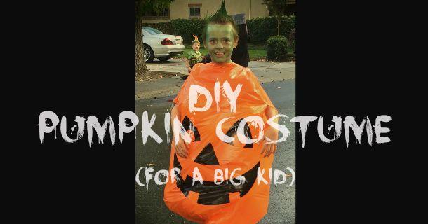 DIY Pumpkin Costume…For a Big Kid