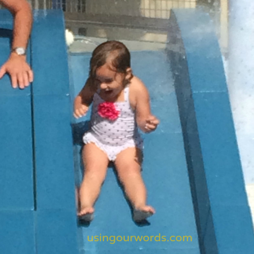 The Disneyland Hotel has water slides for all sizes.