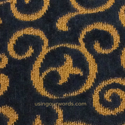 Little spotted this in the Disneyland Hotel hall carpeting...among others!